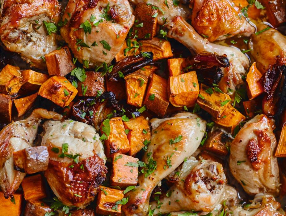Celebration Chicken with Sweet Potatoes and Dates
