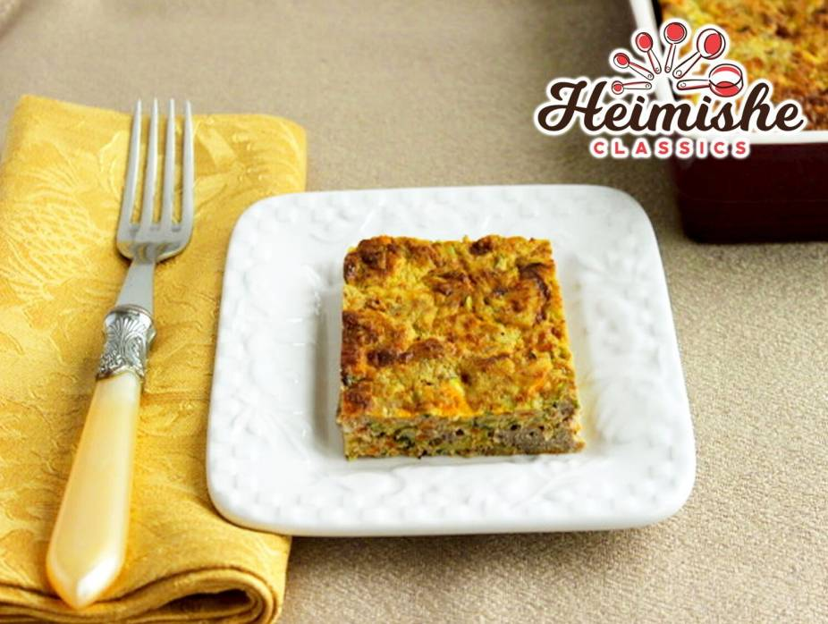 Vegetable Kugel with Ground Meat