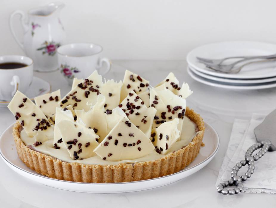 Cheese, White Chocolate, and Coffee Pie