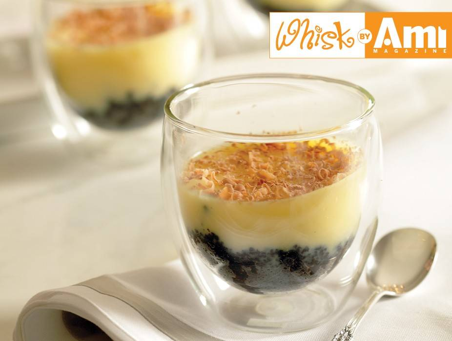 White Chocolate Pudding with Oreo Cookie Crust