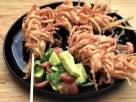 Crispy Wonton Chicken Skewers