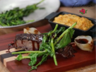 Cider Braised Short Ribs with Sweet Potato Soufflé