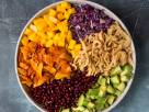 Rainbow Salad with Maple-Lime Dressing