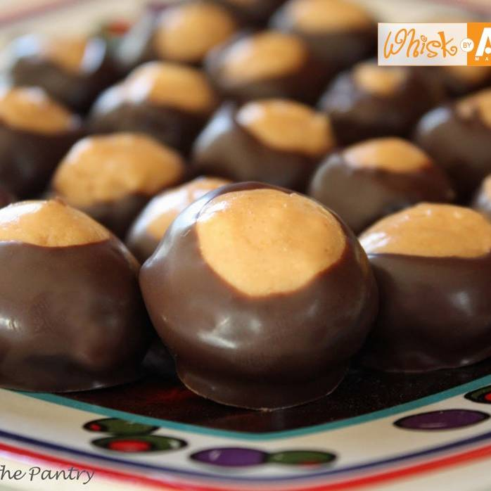 chocolate covered peanut butter balls  buckeyes