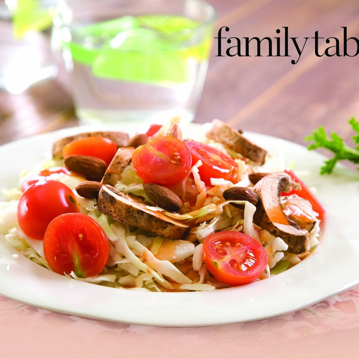 Original salad with mushrooms and corn for holidays and weekdays