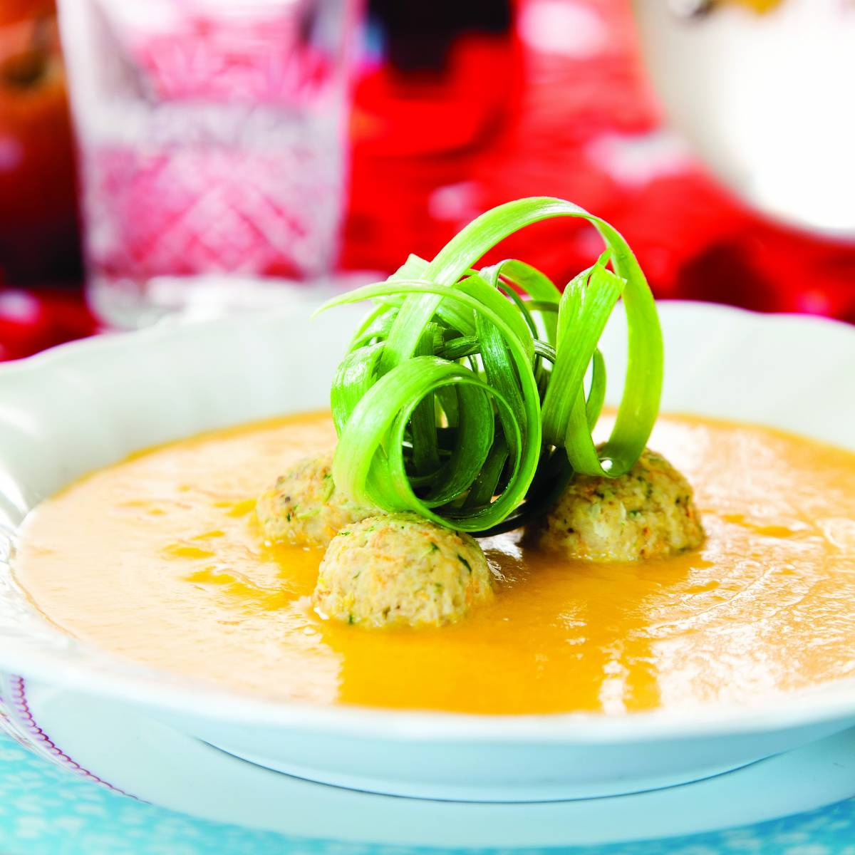 ... Squash Carrot Soup with Chicken Knaidelach | Recipes | Kosher