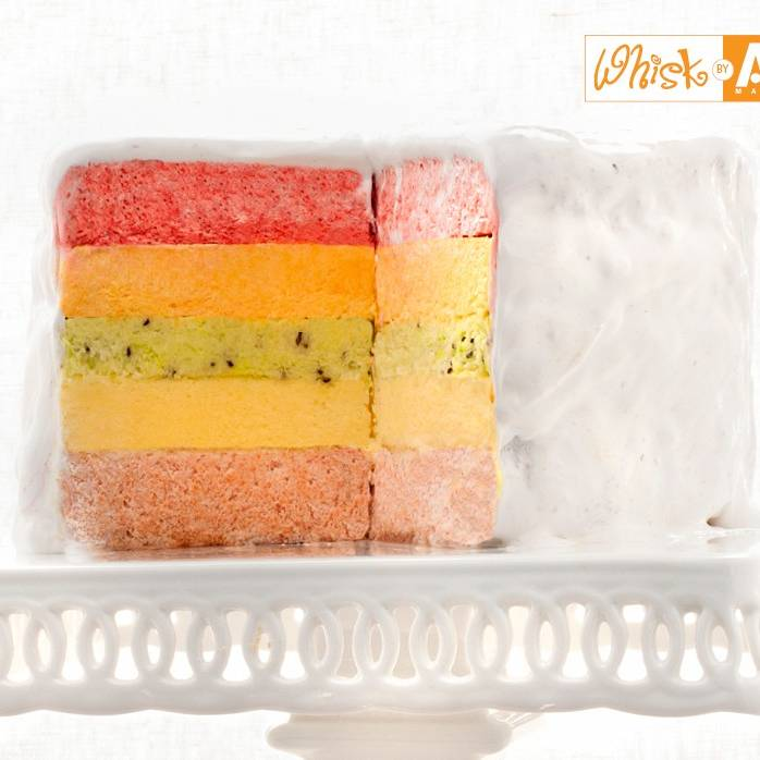 Frozen Rainbow Chiffon Cake Recipe — Dishmaps