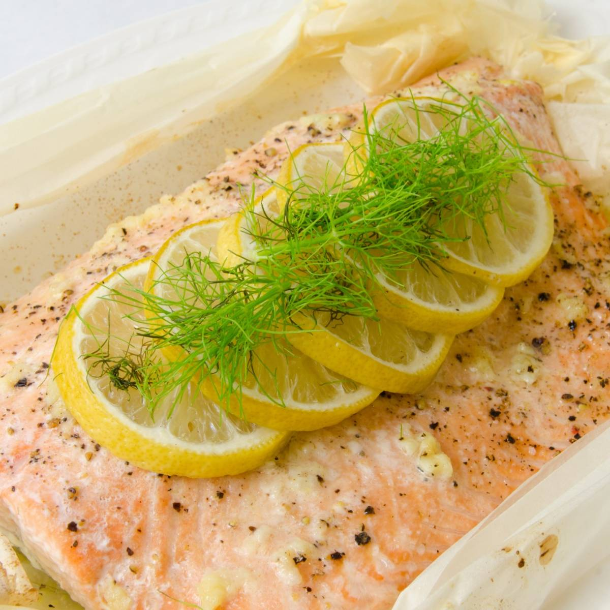 Salmon En Papillote With Garlic And Herbs Recipes