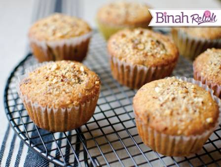 Healthy Whole Wheat Muffins with Dates and Almonds