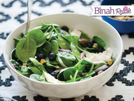 Blueberry Spinach Salad With Balsamic Dressing