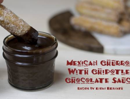 Mexican Churros with Chipotle Chocolate Sauce