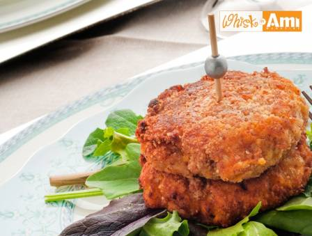 Almond-crusted Sweet Potato Patties