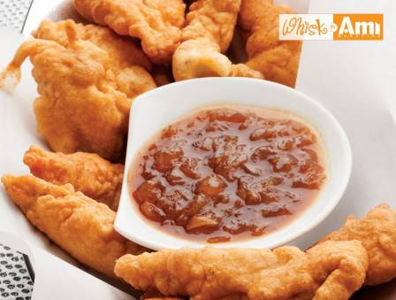 Batter-Fried Gluten-Free Chicken Strips with Sweet & Savory Dipping Sauce