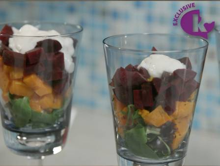 Savory Beet and Yogurt Parfaits