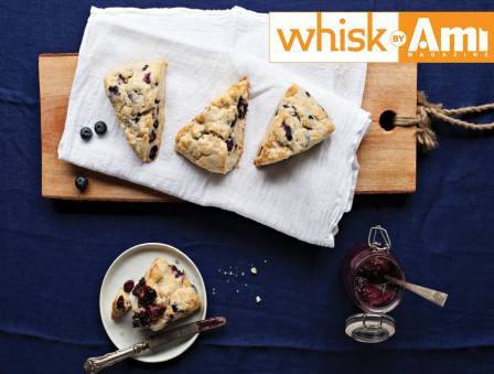 Blueberry Scones with Blueberry Chia Jam