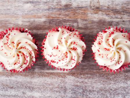 Orange Coconut Cupcakes with Blood Orange Extract