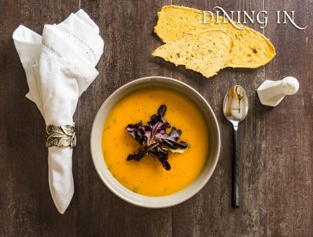 Butternut Squash Soup with Radicchio