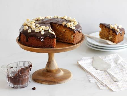 Nutty Carrot Cake with Chocolate Ganache