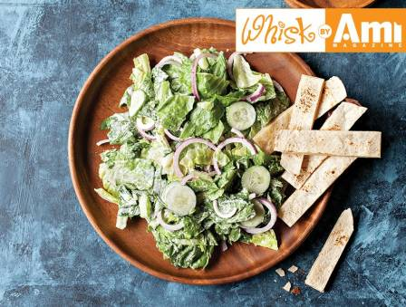 Caesar Salad with Cheese Toasts