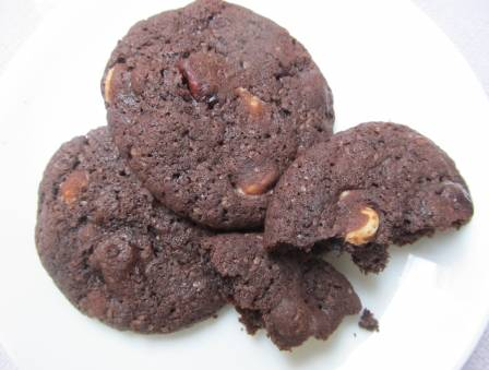 Chocolate Pomegranate Cookies