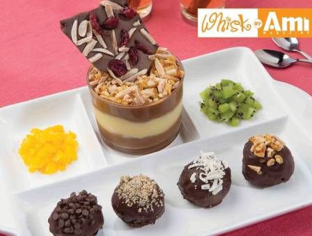 Chocolate and Lemon Mousse and Chocolate BonBons
