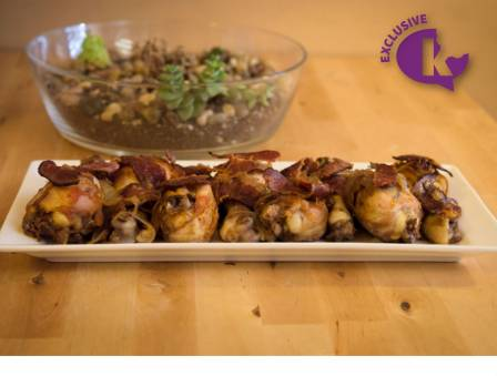 Chicken Drumsticks with Red Wine and Beef Fry