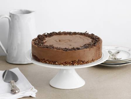 Chocolate-Coffee Mousse Cake