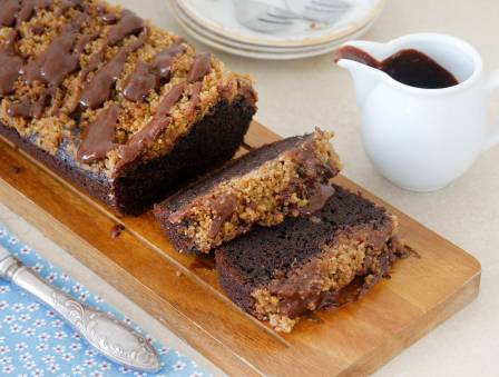 Chocolate Chocolate-Chip Cake with Spiced Streusel
