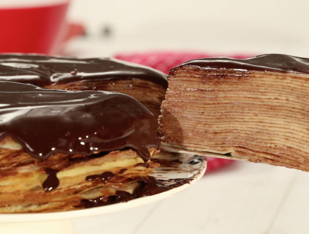 Irresistible Crepe Cake with Chocolate Ganache