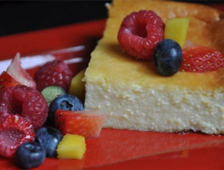 Crustless Ricotta Cheesecake