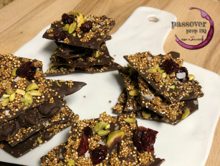 Crispy Quinoa Chocolate Bark