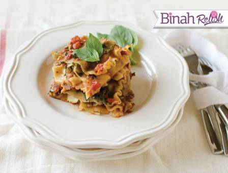 Slow Cooker Meat and Spinach Lasagna