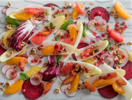Endive Salad with Citrus and Seeds