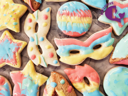 Edible Paint Purim Cookies