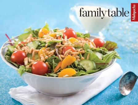 Tossed Salad with Caramelized Almonds