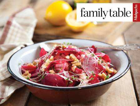 Beet Carpaccio with Goat Cheese
