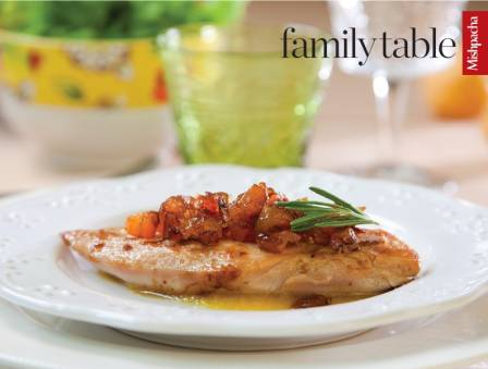Apricot-Stuffed Chicken with Apricot Sauce