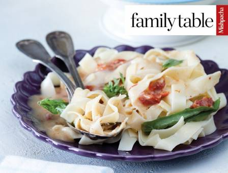 Creamy Fettuccine with Sun-Dried Tomatoes