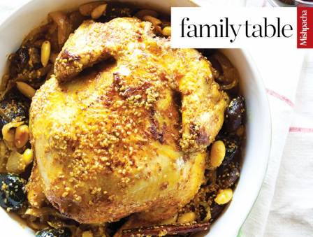 Roast Chicken with Prunes and Almonds