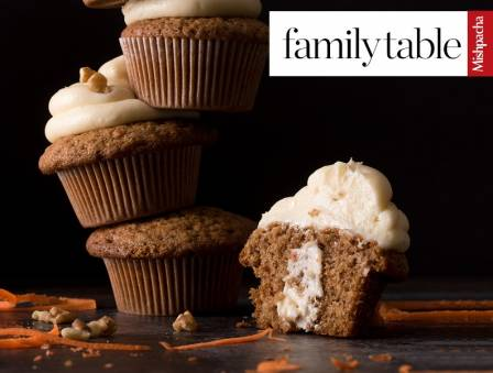Dressed-Up Carrot Muffins with Fresh Cream Cheese Filling