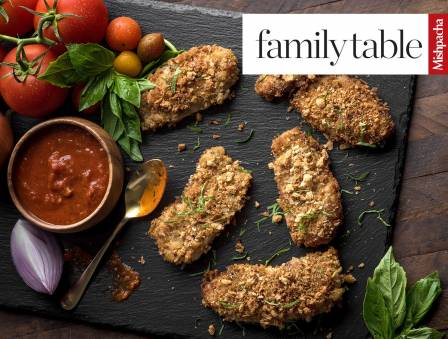 Eggplant-Coated Breaded Cutlets