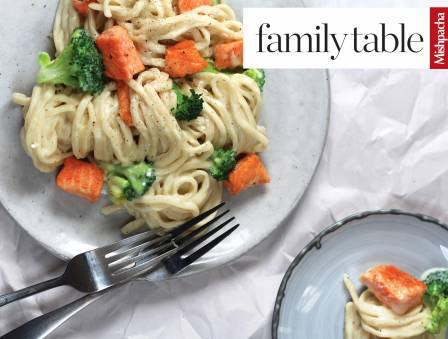 Creamy Broccoli and Salmon Noodles