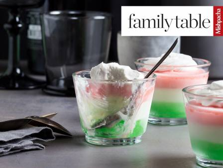 Layered Lime-Strawberry Mousse Cups