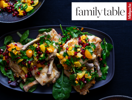 Chicken Steaks with Golden Berry Orange Gremolata