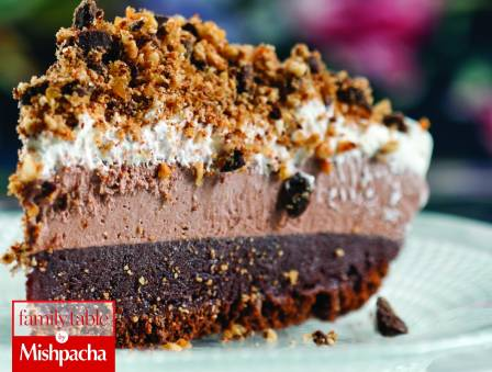 Chocolate Pudding Pie with Nutty Chocolate Crunch