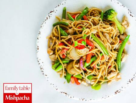 Chicken Linguine with Vegetables
