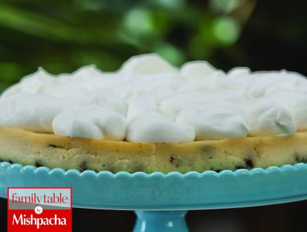 Light and Decadent Chocolate Chip Cheesecake