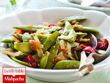 Sugar Snap Peas and Sun-dried Tomatoes