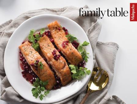 Pomegranate Honey-Glazed Salmon