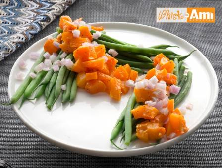 Haricot Verts with Butternut Squash and Mango Vinaigrette